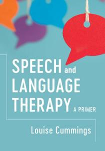 Speech and Language Therapy Book