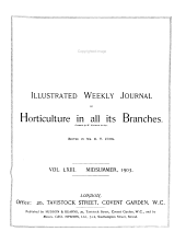 The Garden: An Illustrated Weekly Journal of Gardening in All Its Branches, Volume 63