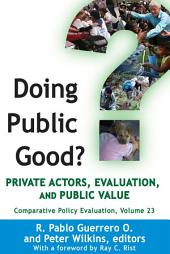 Doing Public Good?: Private Actors, Evaluation, and Public Value