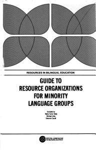 Guide to Resource Organizations for Minority Language Groups PDF
