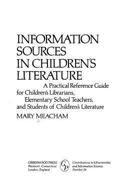 Information Sources in Children s Literature PDF