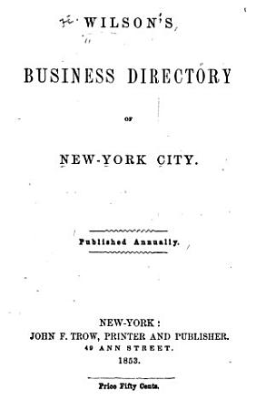 Wilson s Business Directory of New York City PDF