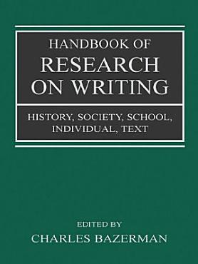 Handbook of Research on Writing PDF