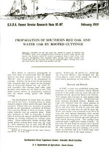 Propagation of Southern Red Oak and Water Oak by Rooted Cuttings Book