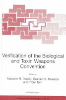 Verification of the Biological and Toxin Weapons Convention PDF