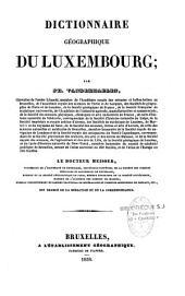 Dictionnaire géographique du Luxembourg