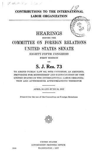 Contributions to the International Labor Organization PDF