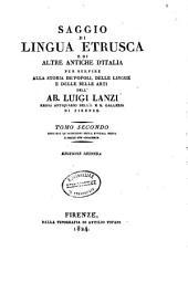 Saggio di lingua Etrusca e di altre antiche dʹItalia per servire alla storia deʹ popoli, delle lingue e delle belle arti: Volume 1