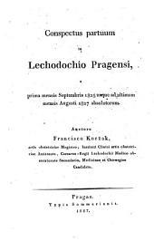 Conspectus partum in Cechodochio Pragensi a prima mensis Septembris 1825 usque ad ultimam mensis Augusti 1827 absolutorum