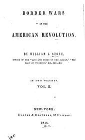 Border Wars of the American Revolution: Volume 2