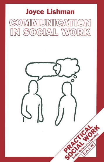 Communication in Social Work PDF