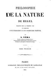 Philosophie de la nature de Hegel: Volume 1