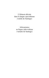 L'élément africain dans la langue capverdienne: Bilingue portugais français