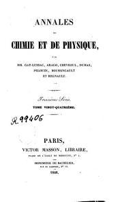 Annales de chimie et de physique: Volume24