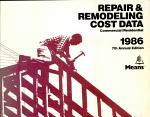 Repair and Remodeling Cost Data, 1986