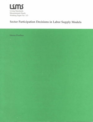 Sector Participation Decisions in Labor Supply Models PDF