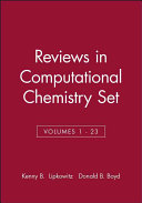 Reviews in Computational Chemistry  Volumes 1   23 Set PDF