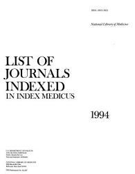 List of Journals Indexed in Index Medicus PDF