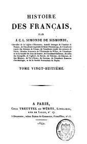 Histoire des Français: Volume28