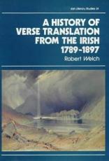 A History of Verse Translation from the Irish  1789 1897 PDF