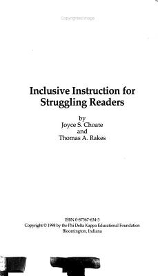 Inclusive Instruction for Struggling Readers PDF