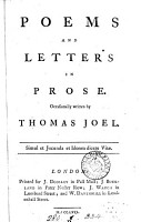 Poems and Letters in Prose PDF
