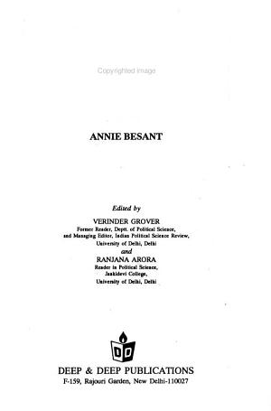 Great Women of Modern India  Annie Besant PDF