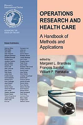 Operations Research and Health Care PDF