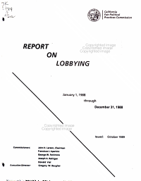 A Report on Lobbying