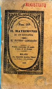 Il matrimonio di un'educanda dramma in quattro atti del sig. Ducange e Bourgeois