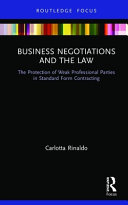 Business Negotiations and the Law