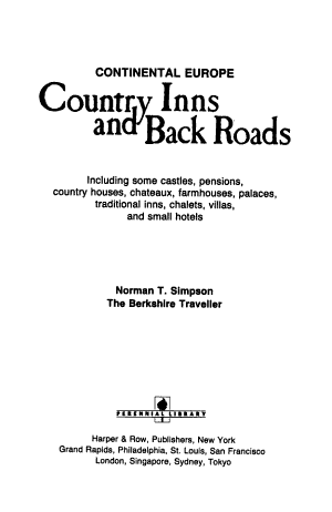 Country Inns and Back Roads