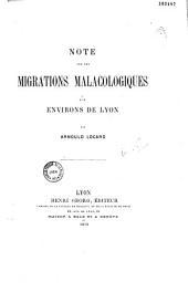 Note sur les migrations malacologiques aux environs de Lyon