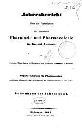 Jahresbericht uber die Fortschritte der Pharmacie in allen Landen