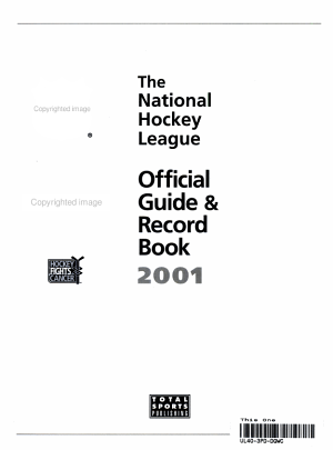 The NHL Official Guide and Record Book 2000 2001 PDF