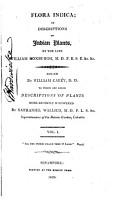 Flora Indica  Or  Descriptions of Indian Plants PDF