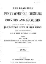 The Register of Pharmaceutical Chemists and Chemists and Druggists...