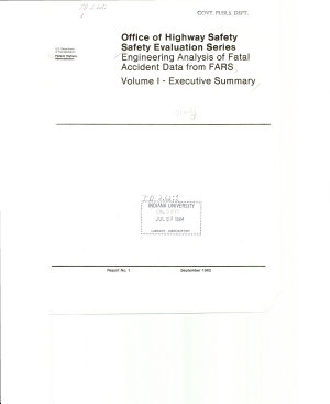 Engineering Analysis of Fatal Accident Data from FARS.