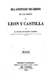 De la constitución y del govierno de los reinos de Leon y Castilla: Volumen 2