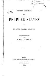 Histoire religieuse des peuples slaves