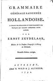 Grammaire générale raisonnée hollandoise