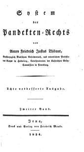 System des Pandektenrechts: Band 2