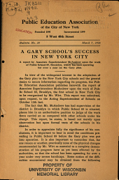 A Gary School's Success in New York City