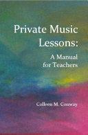 Private Music Lessons PDF