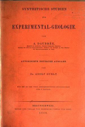 Synthetische Studien zur Experimental Geologie PDF