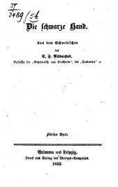 Die schwarze Hand: Aus dem Schwedischen von C. F. Ridderstad, Band 5