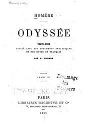 Odyssée: texte grec publié avec des arguments analytiques et des notes en français