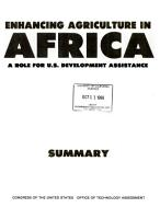 Enhancing Agriculture in Africa PDF