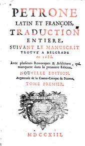 Pétrone latin et françois: Volume1