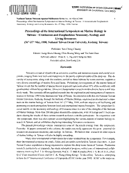 Proceedings of the International Symposium on Marine Biology in Taiwan  Crustacean and Zooplankton Taxonomy  Ecology and Living Resources PDF